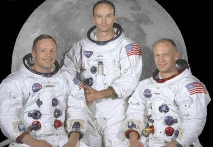 The Apollo 11 crew - Neil Alden Armstrong, Michael Collins and Edwin Eugene 'Buzz' Aldrin, Jr