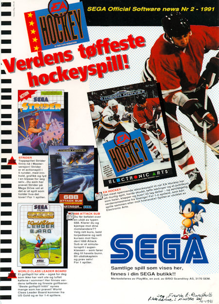 SEGA Official Software News 1991 no.2