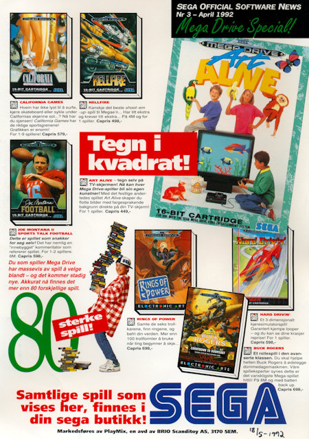 SEGA Official Software News 1992 April