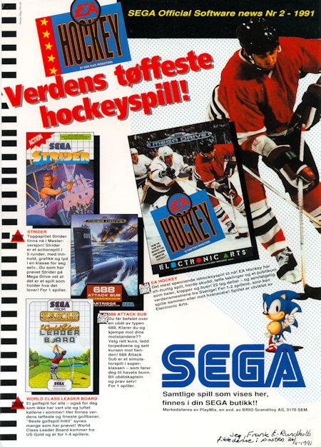 SEGA Official Software News 1991 no.2