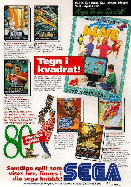 SEGA Official Software News 1992 April