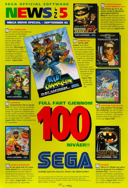 SEGA Official Software News 1992 September