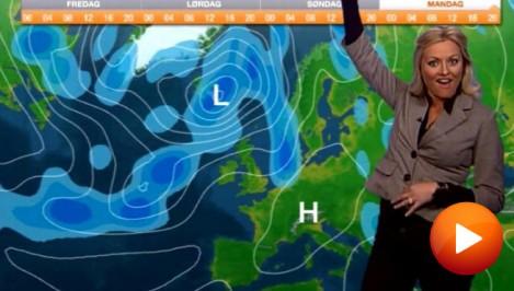 Weather lady Eli Kari Gjengedal sings the weather report